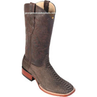 Men's Los Altos Suede Python Boots Square Toe Handcrafted 822N5707