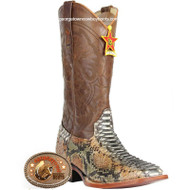 Men's Los Altos Square Toe Python Boots Handcrafted 8225788