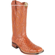 Men's Los Altos Full Quill Ostrich Boots Square Toe Handcrafted 8260303