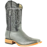 Men's Los Altos Smooth Ostrich Boots Square Toe Handmade 8279709