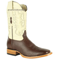 Men's Los Altos Smooth Ostrich Boots Square Toe Handmade 8279707