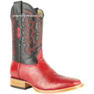 Men's Los Altos Smooth Ostrich Boots Square Toe Handmade 8279712