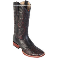 Men's Los Altos Caiman Belly Square Toe Boots With Saddle Handcrafted 8218218