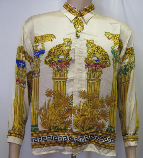 Walls and Leopards Silk Shirt Full View