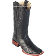 Men's Los Altos Ostrich Square Toe Boots W Saddle Vamp Handmade 8210305