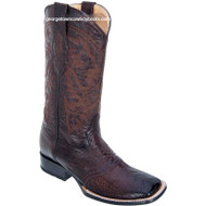 Men's Los Altos Square Toe Ostrich Leg Boots W Saddle Vamp Handcrafted 8210516