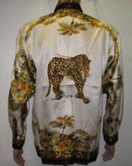 Leopard Palm Trees Silk Shirt