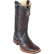 Men's Los Altos Square Toe Lizard Boots With Saddle Handmade 8230718