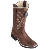 Men's Los Altos Leather Boots Square Toe Handcrafted 82E2707