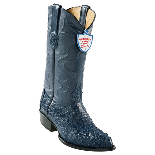 Men's Wild West Caiman Hornback J Toe Boots Handcrafted 2990214