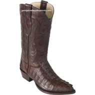 Men's Los Altos Genuine Caiman Tail J Toe Boots Handcrafted 990107