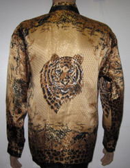 Tiger Head Silk Shirt