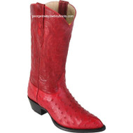 Men's Los Altos Genuine Full Quill Ostrich J Toe Boots Handmade 990312
