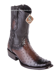 Men's King Exotic Genuine Ostrich Boots Dubai Toe Handcrafted 479B0316