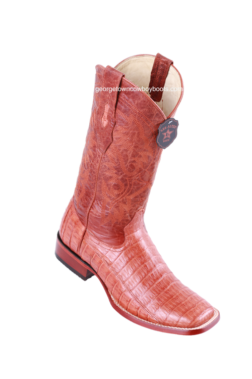 Men's Los Altos Caiman Belly Square Toe Boots Handcrafted 822A8203