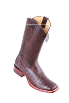 Men's Los Altos Caiman Belly Square Toe Boots Handcrafted 822A8207
