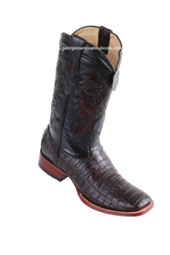Men's Los Altos Caiman Belly Square Toe Boots Handcrafted 822A8218