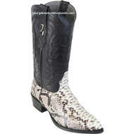 Men's Los Altos Genuine Python Snakeskin J Toe Boots Handcrafted 995749