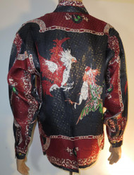 Cock Fighting Roosters Silk Shirt