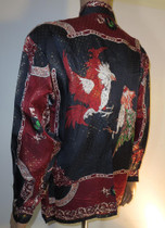Baroque Roosters Silk Shirt