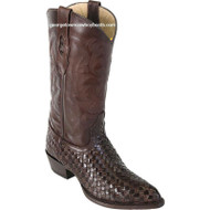 Mens Los Altos Basket Weave Teju Lizard J Toe Boots Handcrafted 996107