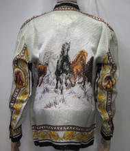 Horses Herd Silk Shirt