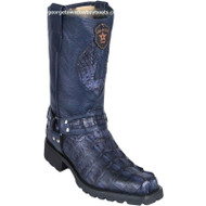 Men's Los Altos Genuine Caiman Tail Motorcycle Boots Handmade 55T0110