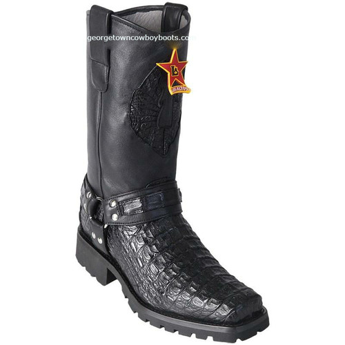 Men's Los Altos Genuine Caiman Motorcycle Boots Handmade 55T1705