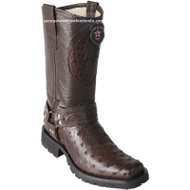 Men's Los Altos Full Quill Ostrich Motorcycle Boots Handmade 55T0307