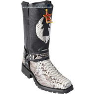 Men's Los Altos Python Biker Boots With Industrial Sole Handmade 55T5749