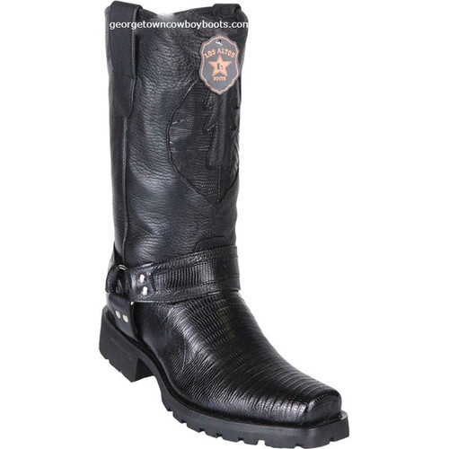 Men's Los Altos Teju Lizard Motorcycle Boots Handmade 55T0705