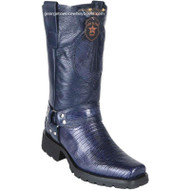 Men's Los Altos Teju Lizard Motorcycle Boots Handmade 55T0710