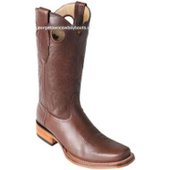 Men's Los Altos Square Toe Leather Boots Handmade 8123807
