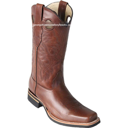 Men's Los Altos Square Toe Boots With Rubber Sole Handcrafted 8133807