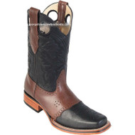 Men's Los Altos Square Toe Boots With Saddle Vamp Handmade 8142705