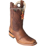 Men's Los Altos Square Toe Boots With Saddle Vamp Handmade 8149951