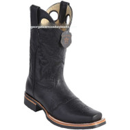 Men's Los Altos Boots With Saddle Vamp Rubber Sole Square Toe Handmade 811C2705