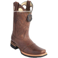 Men's Los Altos Boots With Saddle Vamp Rubber Sole Square Toe Handmade 811C2707