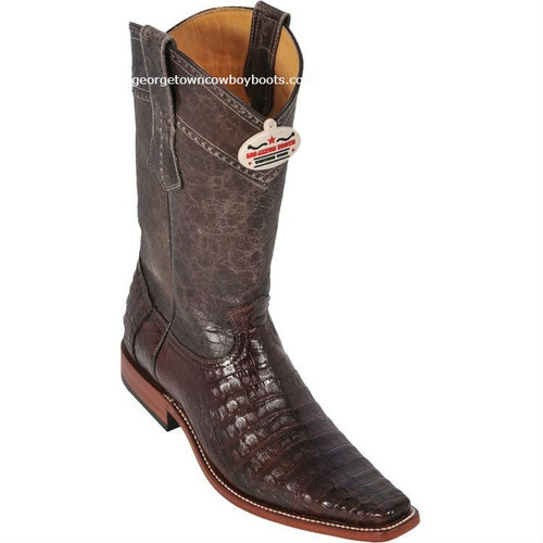 Men's Caiman Belly Boots Square Toe Handcrafted 738207