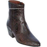Mens Ostrich Leg Short Ankle Los Altos Boots 630507
