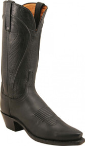 Lucchese Since 1883 Womens Black Burnished Ranch Hand Cowgirl Boots N4605