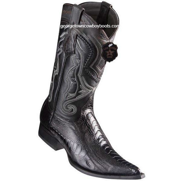 5c3cfd16615 Men's Los Altos Ostrich Leg Boots 3X Toe Handcrafted 9530505
