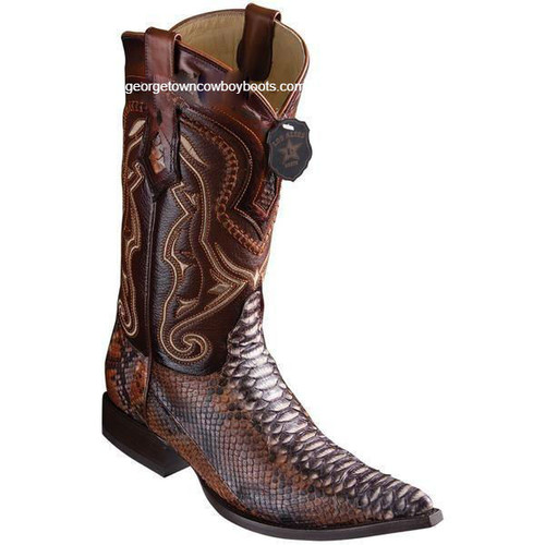 Men's Los Altos Python Boots 3X Toe Handcrafted 9535788