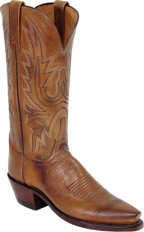 Lucchese Heritage Womens Tan Mad Dog Goat Cowgirl Boots N4540