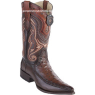 Men's Los Altos Ostrich Boots With Deer 3x Toe Handcrafted 9520316