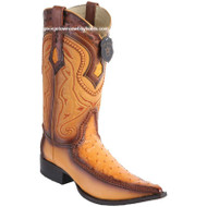 Men's Los Altos Ostrich Boots With Deer 3x Toe Handcrafted 9520301