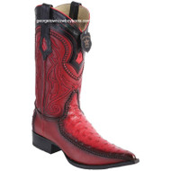 Men's Los Altos Ostrich Boots With Deer 3x Toe Handcrafted 9520312