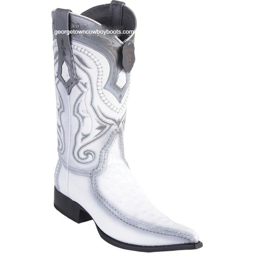 Men's Los Altos Ostrich Boots With Deer 3x Toe Handcrafted 9520328