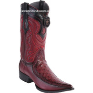 Men's Los Altos Ostrich Boots With Deer 3x Toe Handcrafted 9520343