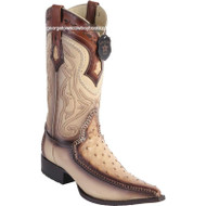 Men's Los Altos Ostrich Boots With Deer 3x Toe Handcrafted 9520315